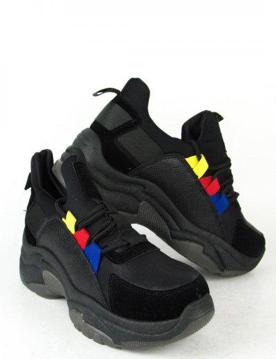 Γυναικεία μαύρα Sneakers αθλητικά με κορδόνια J100L