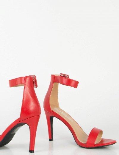 Γυναικεία κόκκινα πέδιλα δερματίνη τόκα μπαρέτα 0355L