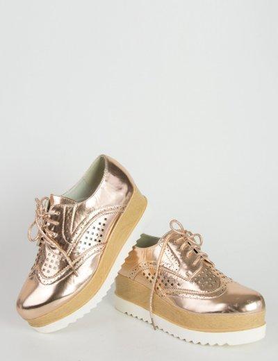 Γυναικεία παπούτσια μπρονζέ oxford LBS2727