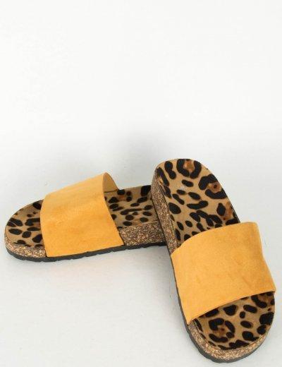 Γυναικεία κάμελ Flatform παντόφλες A101C