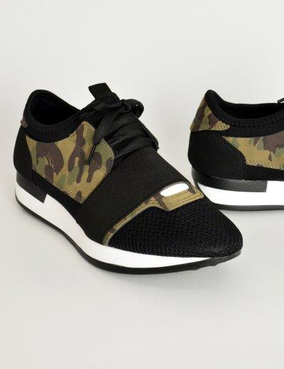 Γυναικεία Sneakers αθλητικά κάλτσα military λάστιχο AD818F